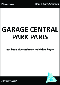 GARAGE CENTRAL PARK PARIS