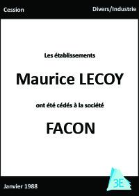 Maurice LECOY/FACON