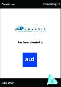 NOVAXIS / ALTI