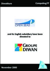 OPEN SEAS / GROUPE DIWAN