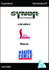 SYNOR ELECTRONIQUE / SEFELEC – MARTEK POWER