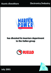 MARTEK POWER / RIELLO